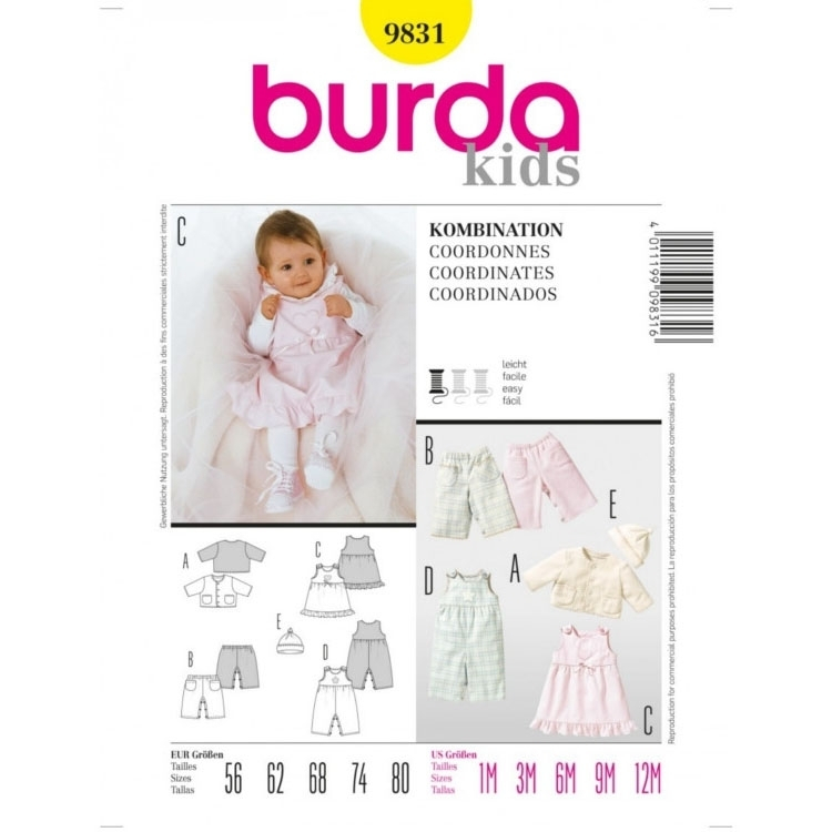 Sewing pattern Tailleur, Burda 9831