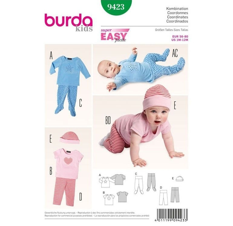 Sewing pattern Zestaw, Burda 9423