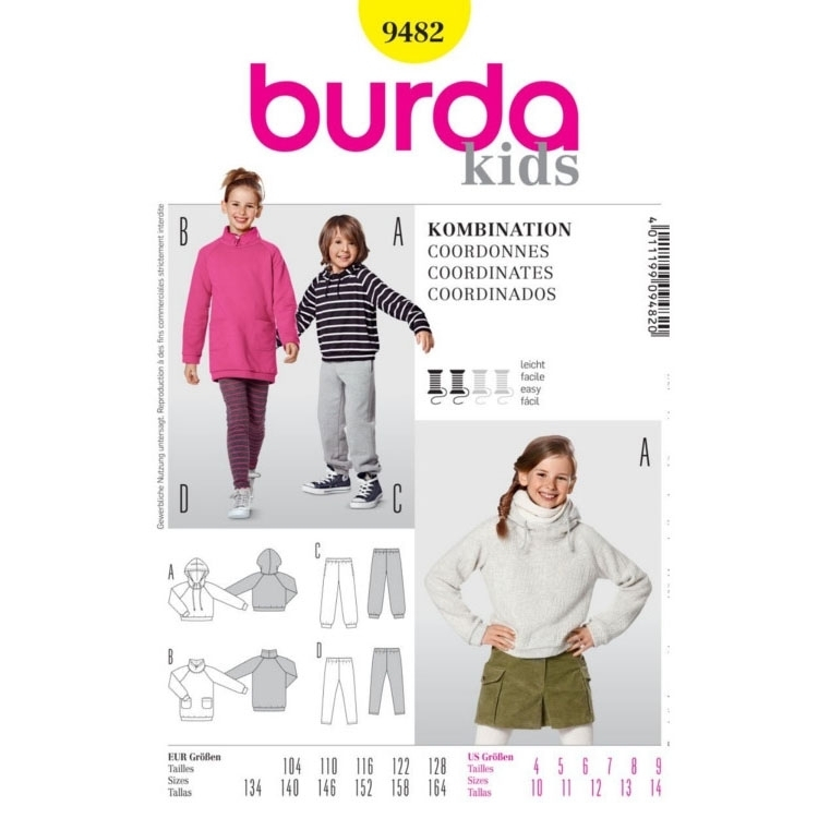 Paper Pattern Combination, Burda 9482