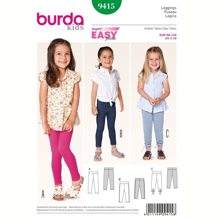 Sewing pattern Legings, Burda 9415