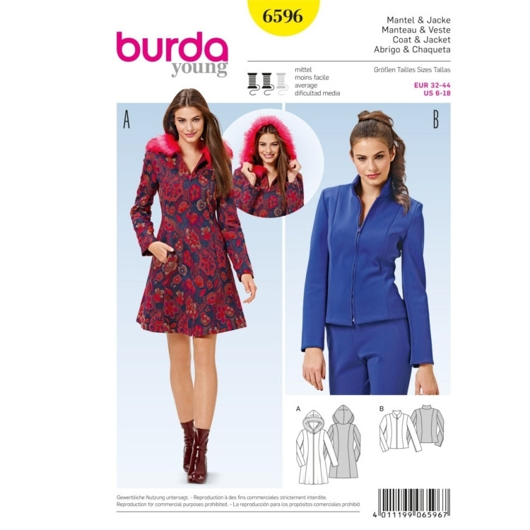 Coat and Jacket, Burda 6596