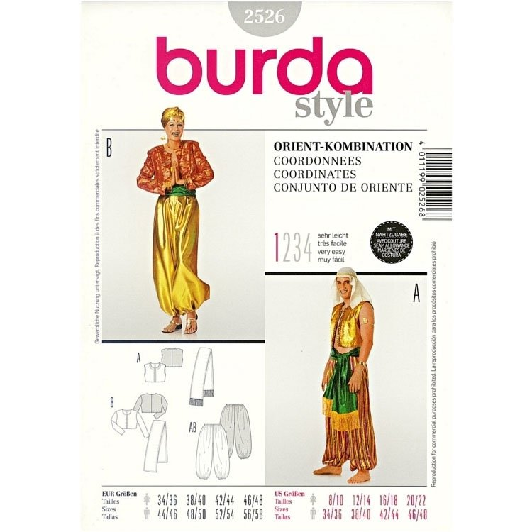 Sewing patterns Stój orientalny, Burda 2526