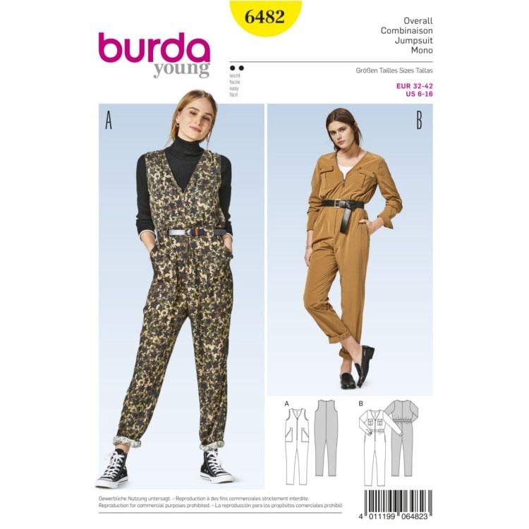 Sewing pattern jumpsuit, Burda 6482 | fabrics-hemmers.co.uk