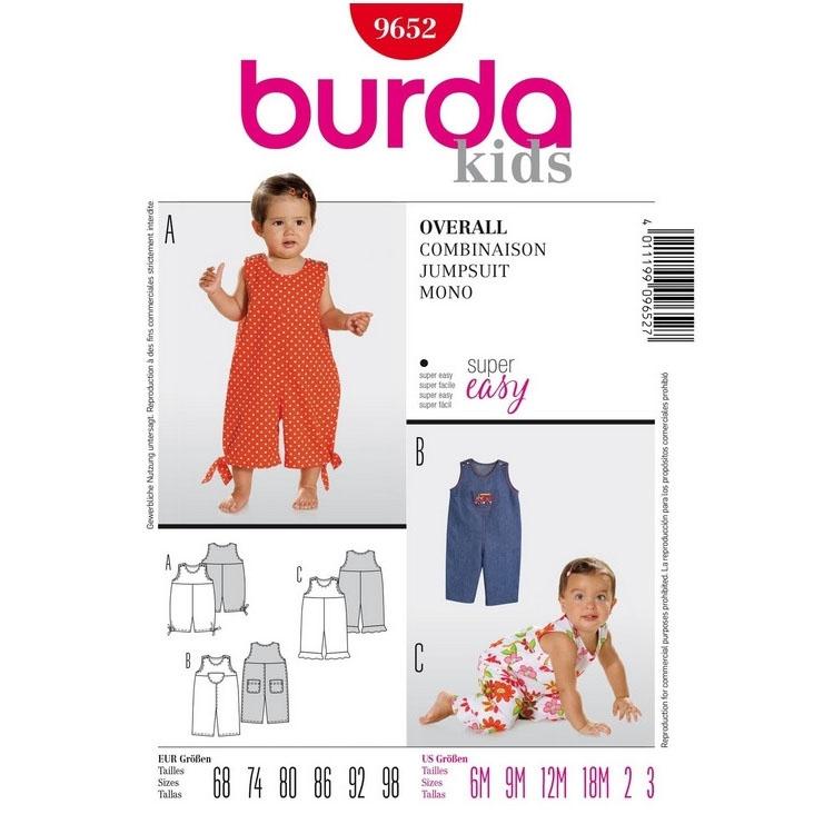 Schnittmuster für Overall von Burda Nr 9652