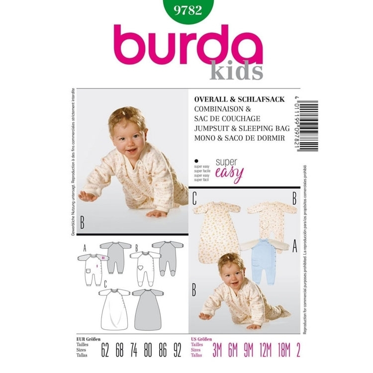 Sewing pattern JUMPSUIT & SLEEPING BAG, Burda 9782