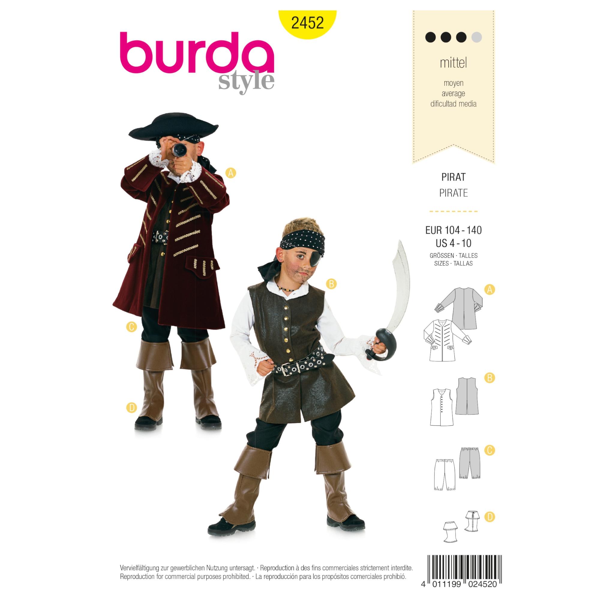 Schnittmuster Pirat, Burda 2452 | stoffe-hemmers.de