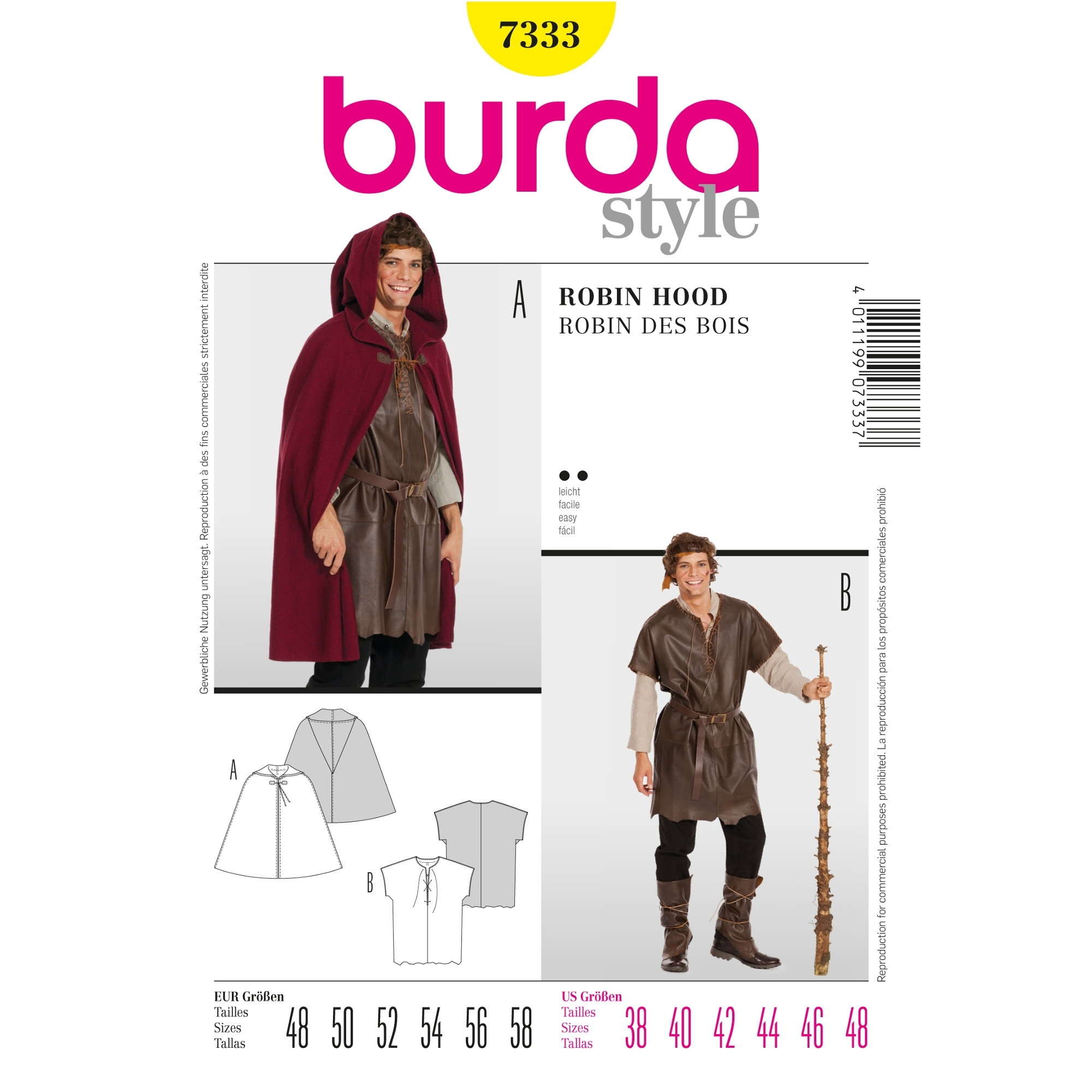 Sewing pattern Robin des Bois, Burda 7333