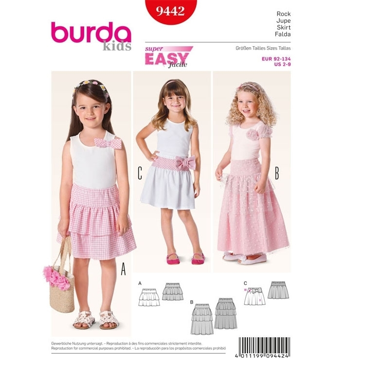 Sewing pattern Jupe, 9442