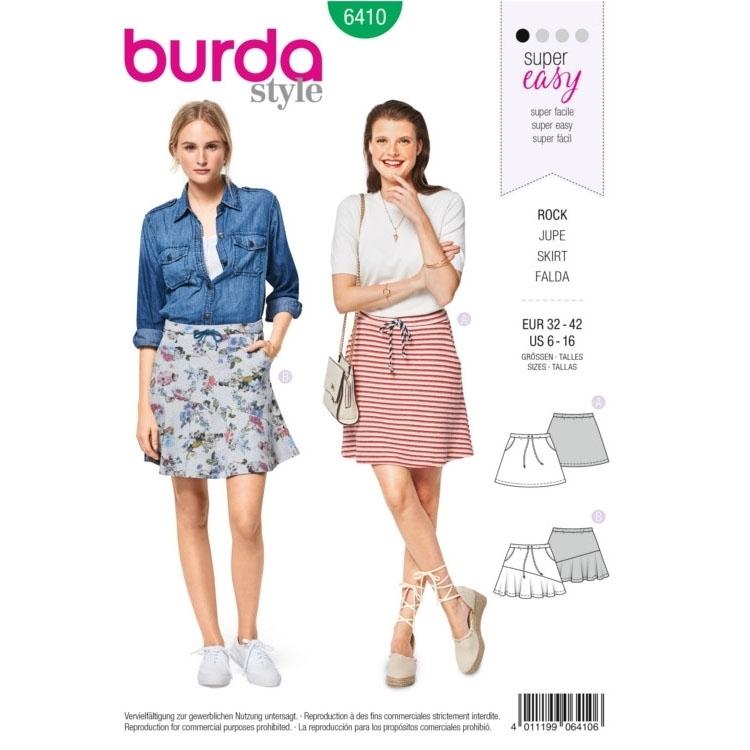 Sewing pattern Burda 6410, skirt | fabrics-hemmers.co.uk