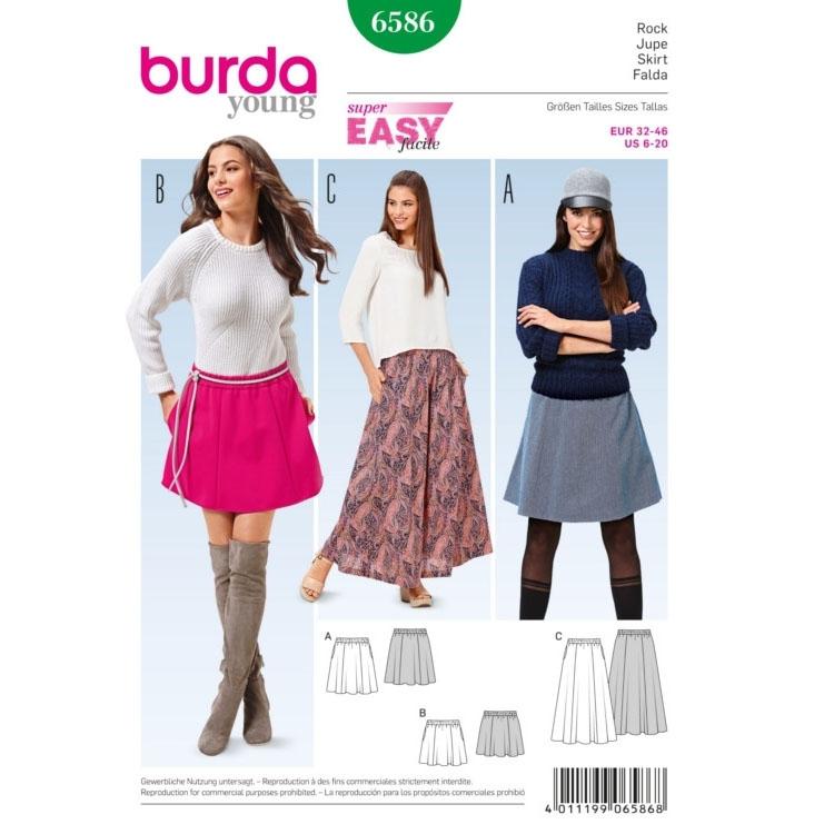 Skirt, Burda 6586 | fabrics-hemmers.co.uk