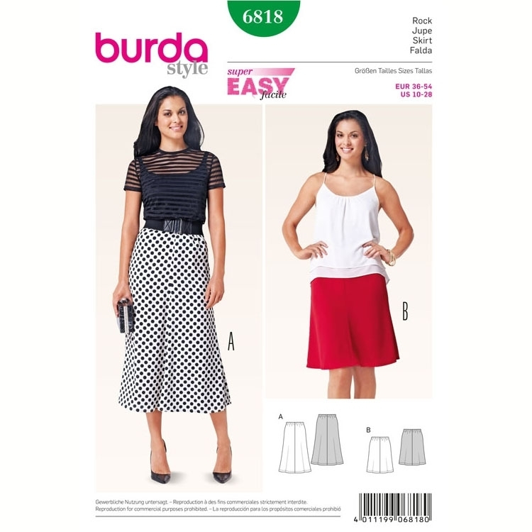 Sewing pattern Skirt, Burda 6818 | fabrics-hemmers.com