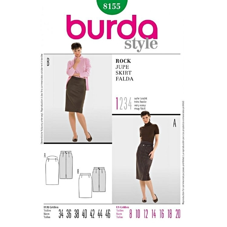 Paper Pattern Skirt, Burda 8155
