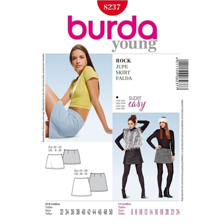 Paper Pattern Skirt, Burda 8237