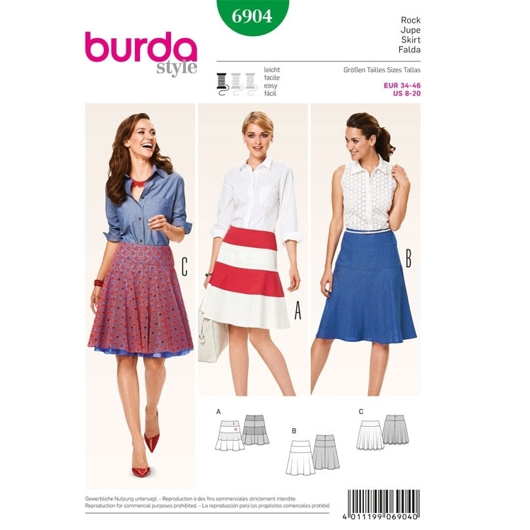 Naaipatron Skirt, Burda 6904