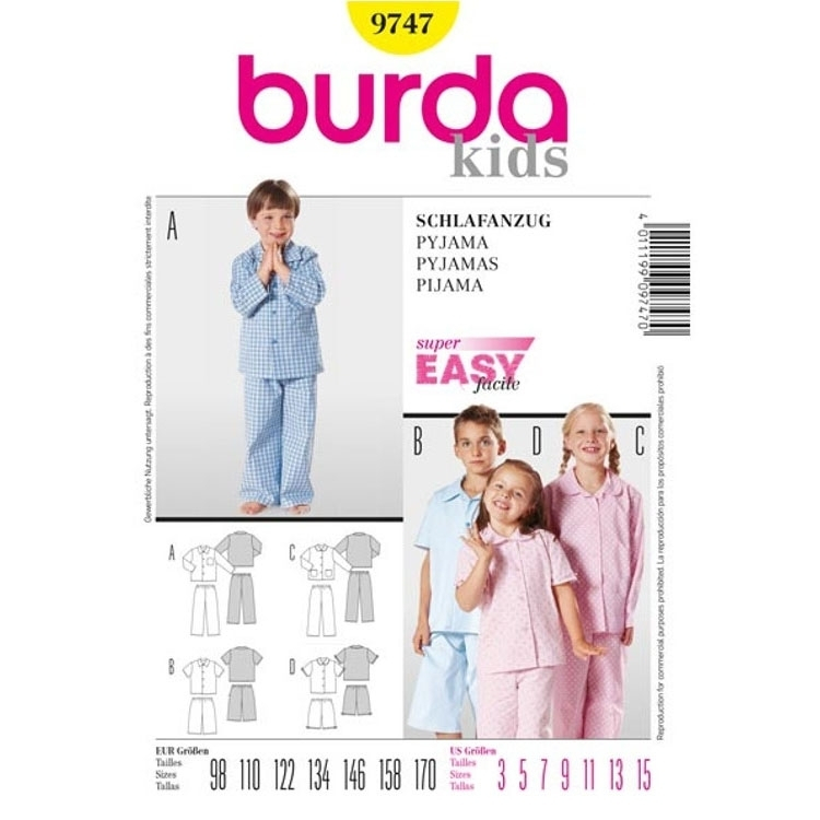 Sewing pattern PYJAMAS