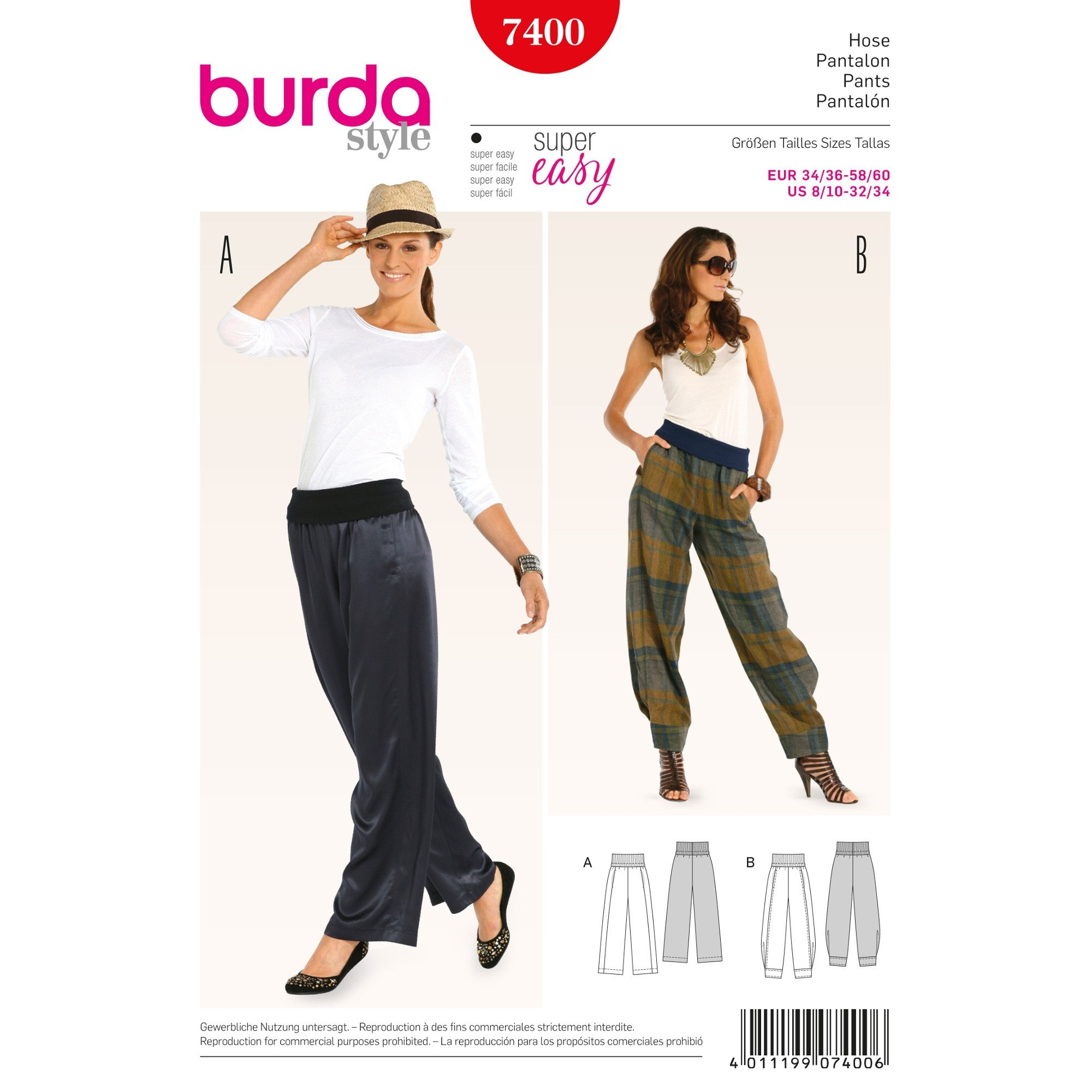 Naaipatron, Pants, Burda 7400