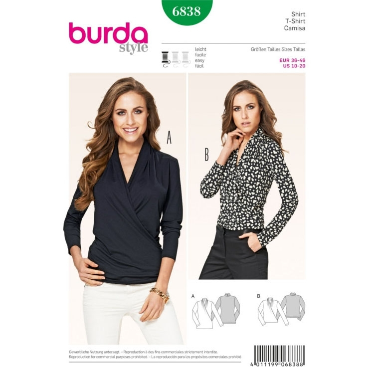 Sewing pattern Blouse, Burda 6838