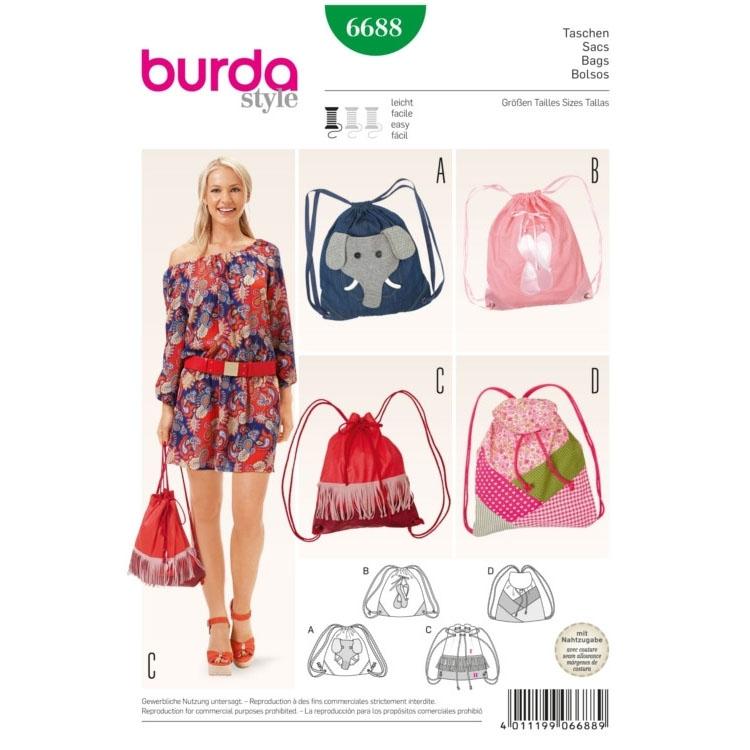 Bag, Burda 6688 | fabrics-hemmers.co.uk