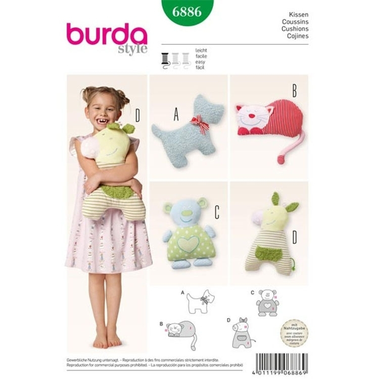 Sewing pattern Cushions, Burda 6886
