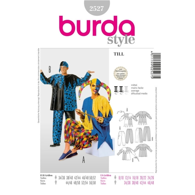 Sewing patterns Pajac, Burda 2527