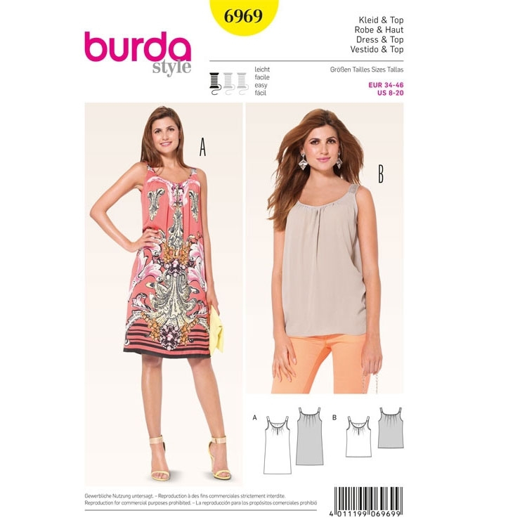 Sewing pattern Robe & Haut, Burda 6969