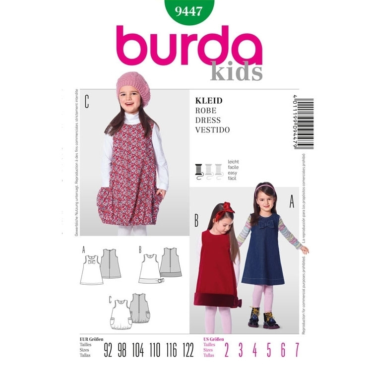 Paper Pattern Dress, Burda 9447