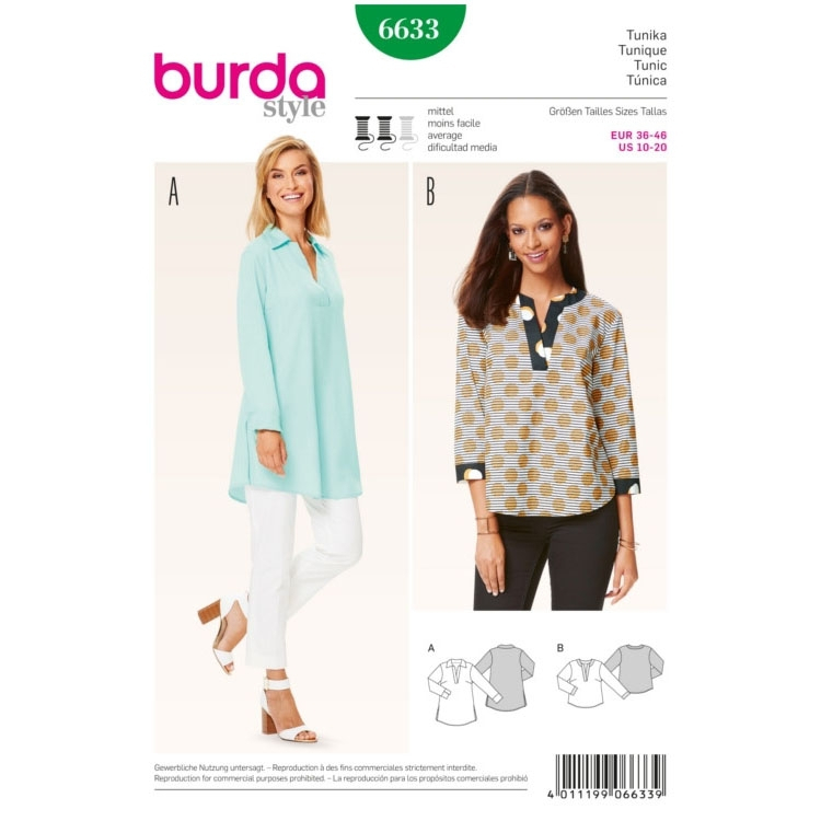 Tunic, Burda 6633 | fabrics-hemmers.co.uk