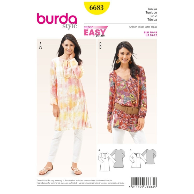 Tuniek, Burda 6683