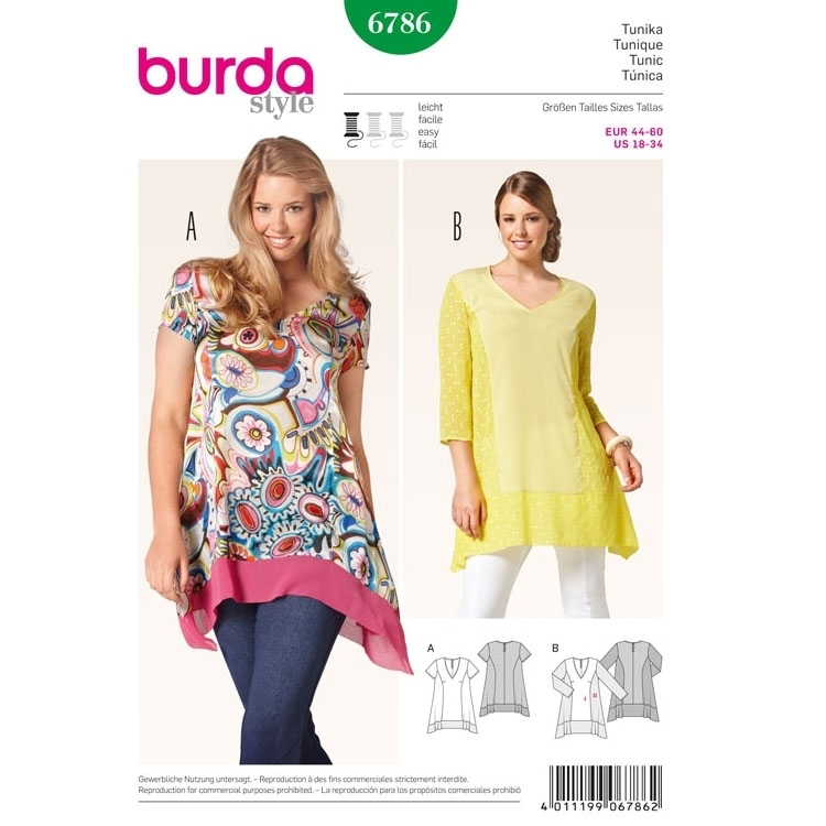 Sewing pattern Tunique, Burda 6786