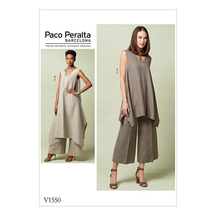 Sewing pattern Vogue 1550, combination: designer dress and trousers ...