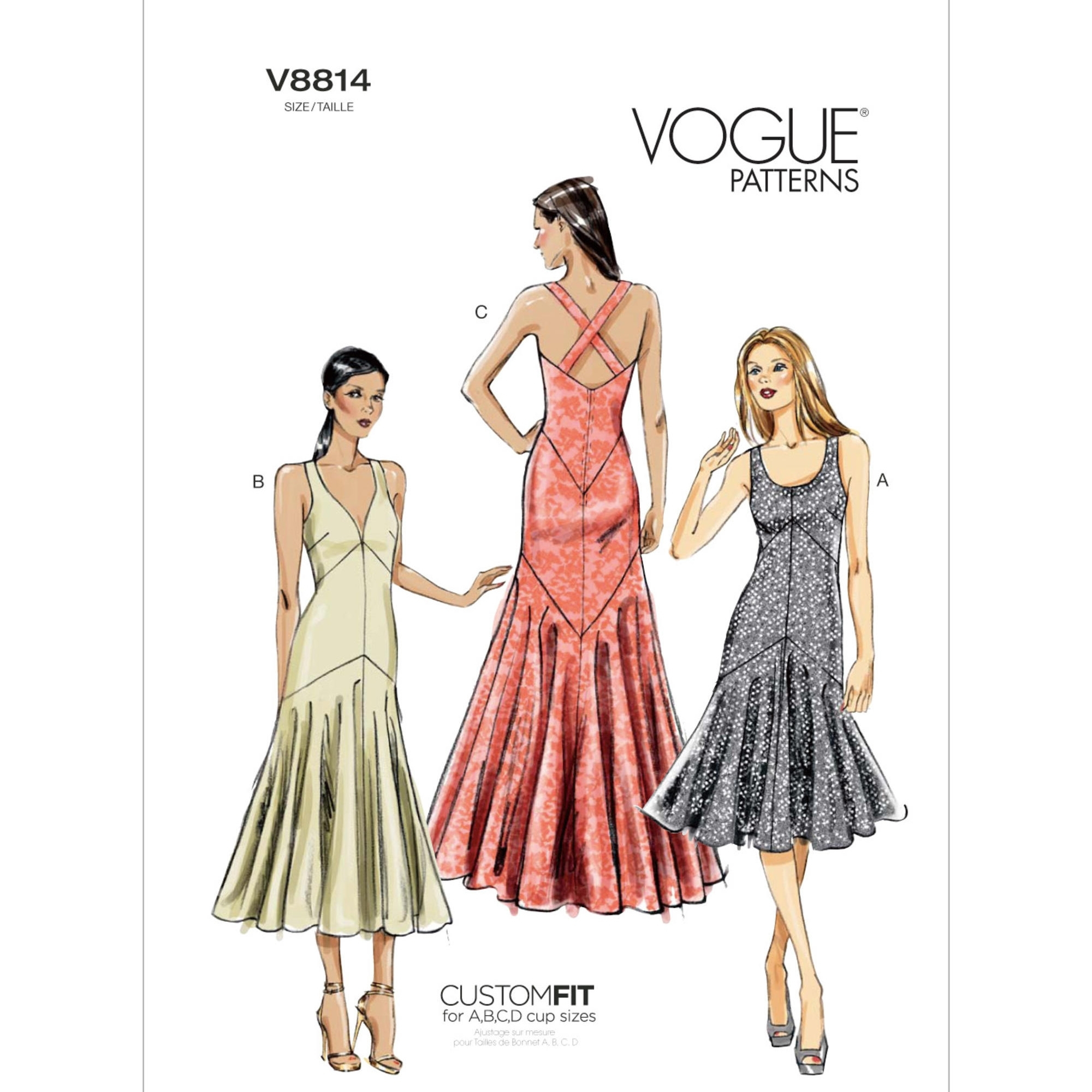Schnittmuster Vogue 8814 Kleid | stoffe-hemmers.de