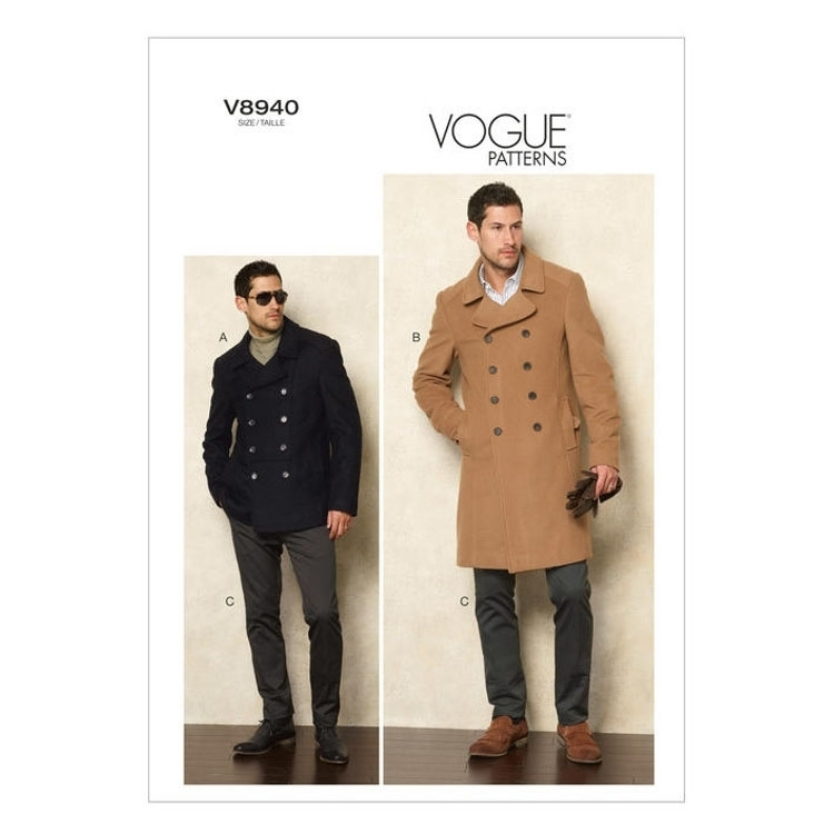 Pattern Vogue 8940 mannen Gecombineerd