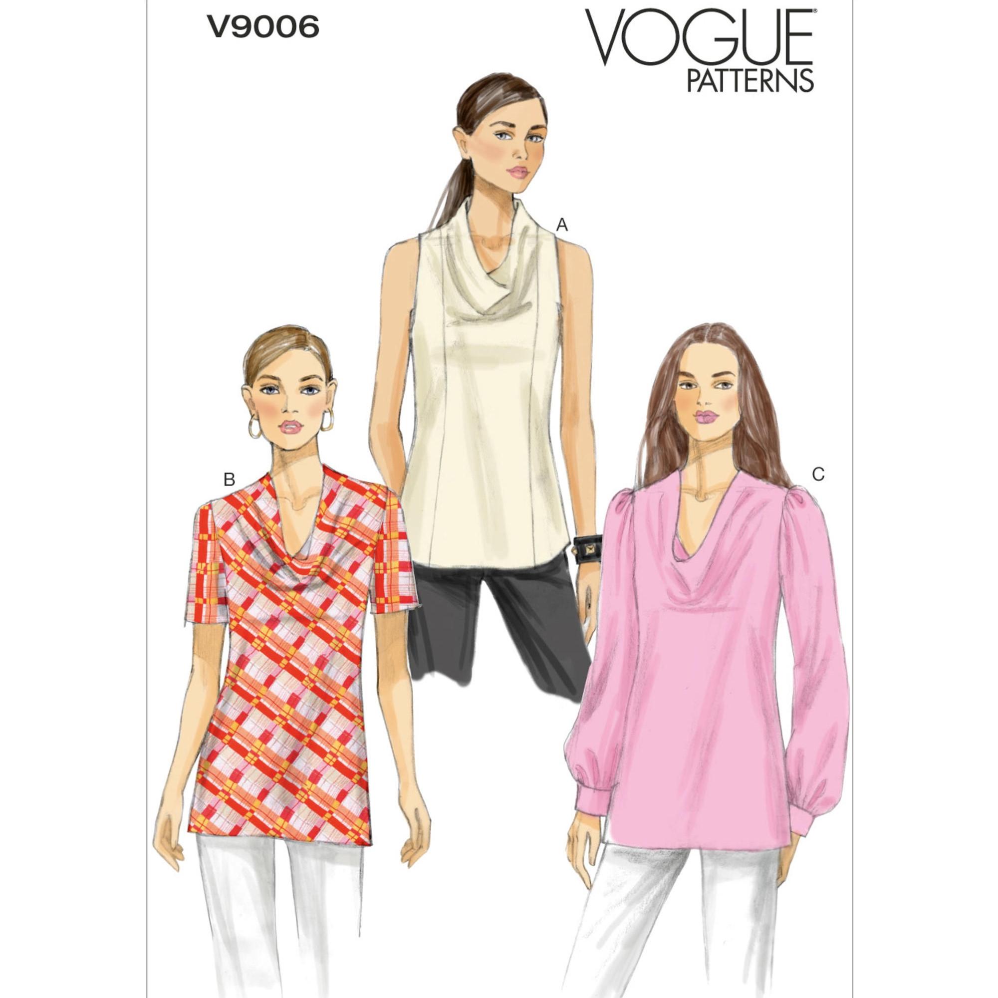 Schnittmuster Vogue 9006 Damen Top - Bluse | stoffe-hemmers.de