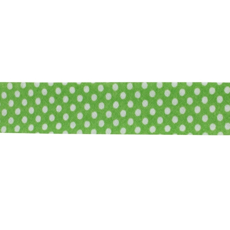 bias tape dots, light green