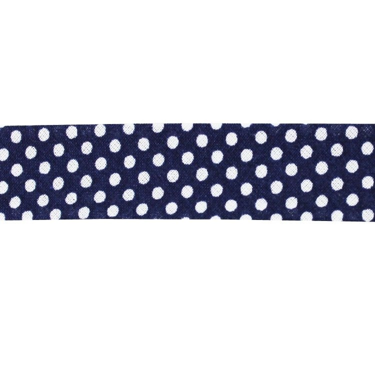 bias tape dots, navy