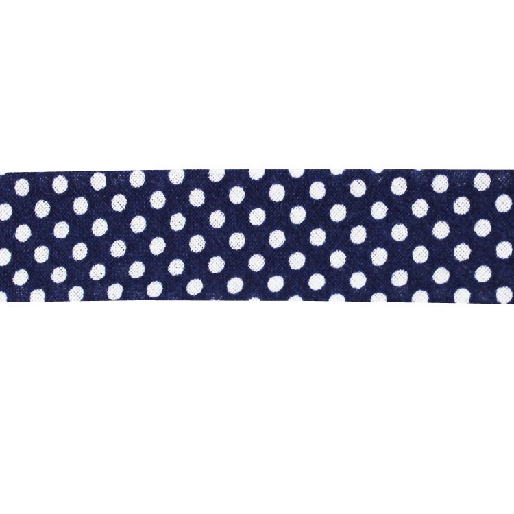 bias tape dots, navy | 1667-23 | blau