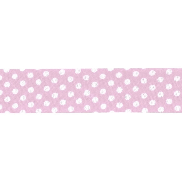 bias tape dots, rose | 1667-74 | rosa