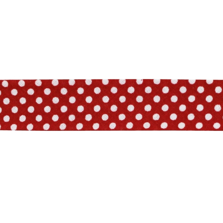bias tape dots, red