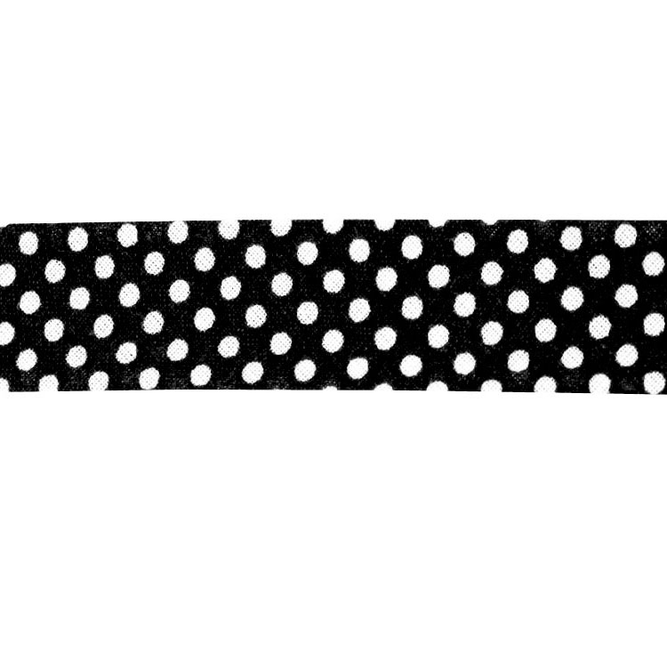bias tape dots, black | 1667-114 | schwarz