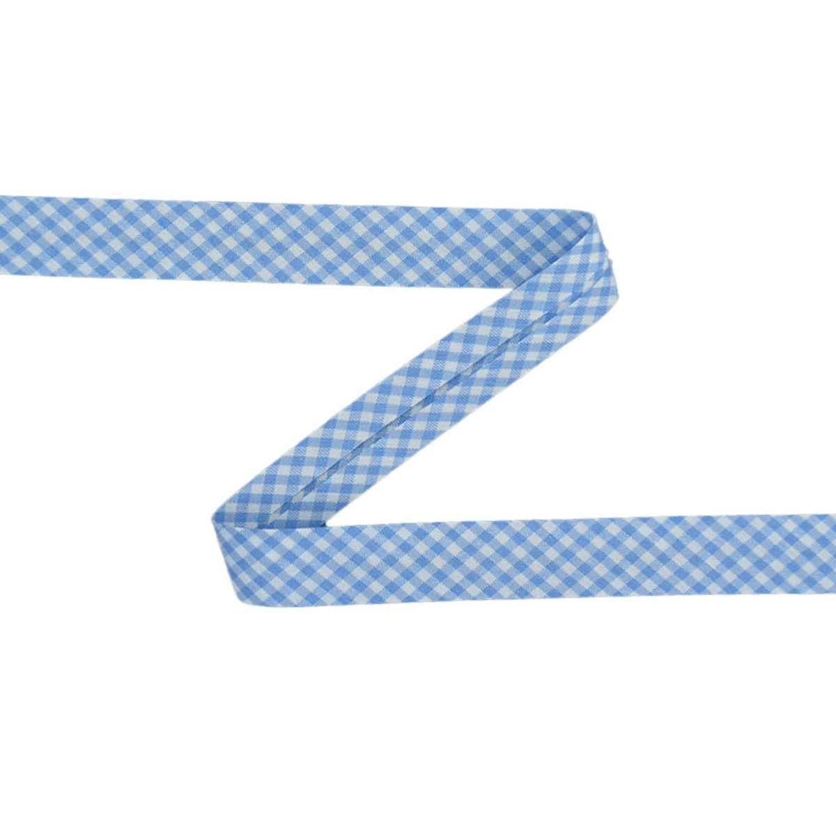 Bias tape Vichy, light blue