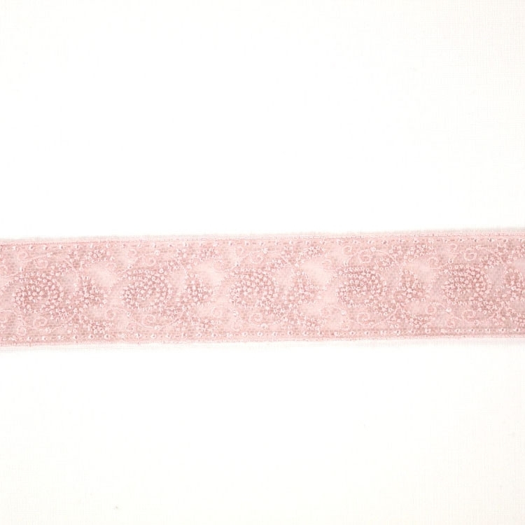 Embroidered laceband, dusty pink