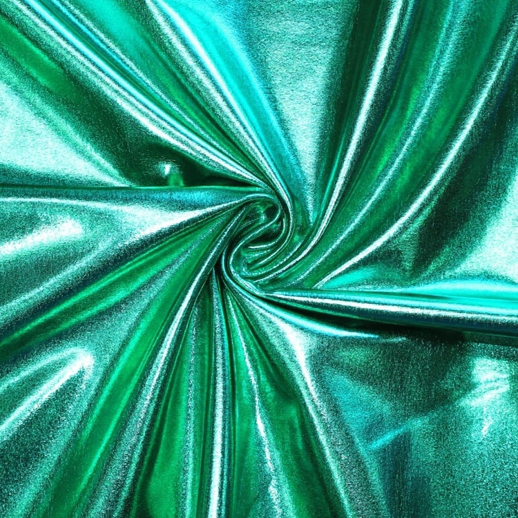 Stretch foil jersey green