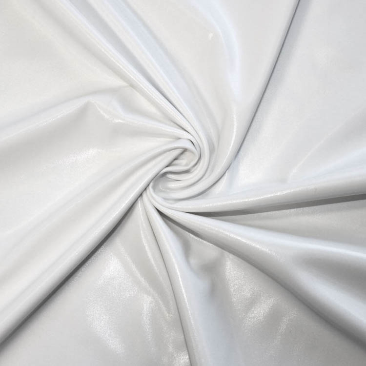 Stretch foil jersey white | 9746-50 | weiss