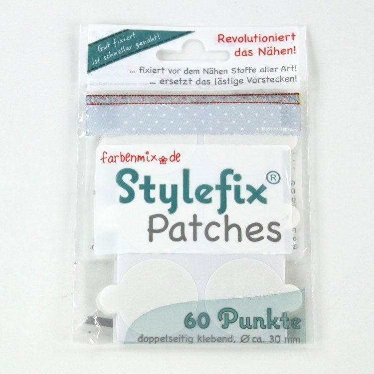 Stylefix-Patches, 60 stuks, ca. 30 mm diameter