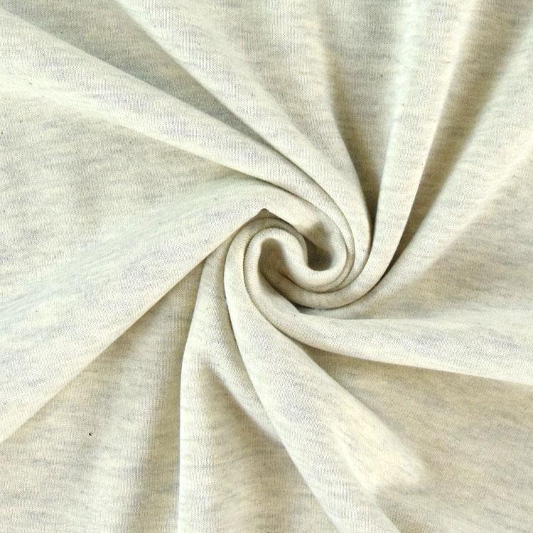 Ecrufarbener Sweatshirtstoff Melange