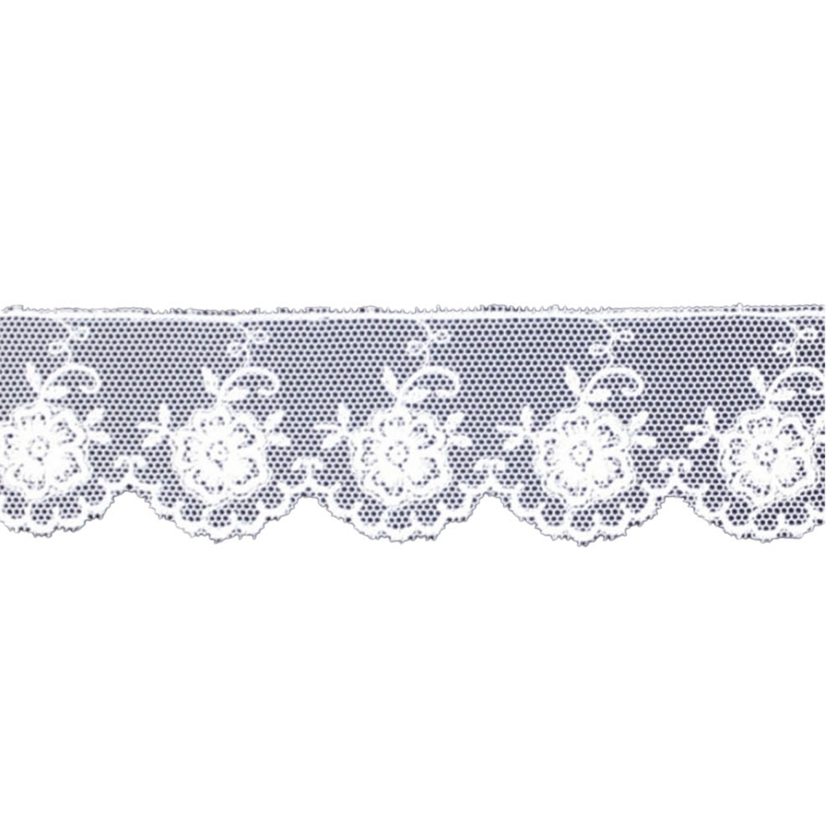tulle brode, white | 4108B-001 |
