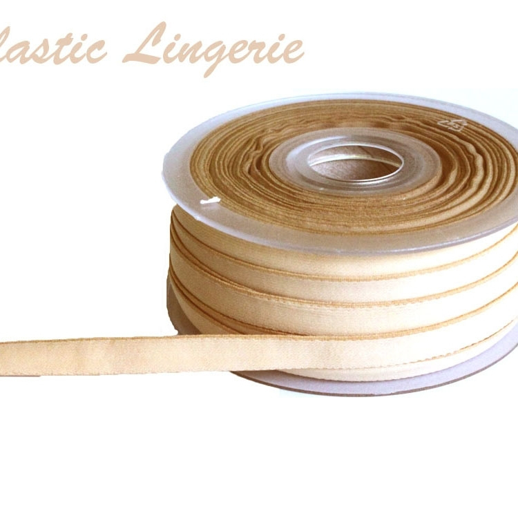 Elastic Lingerie Ribbon, 10 mm, skin colour