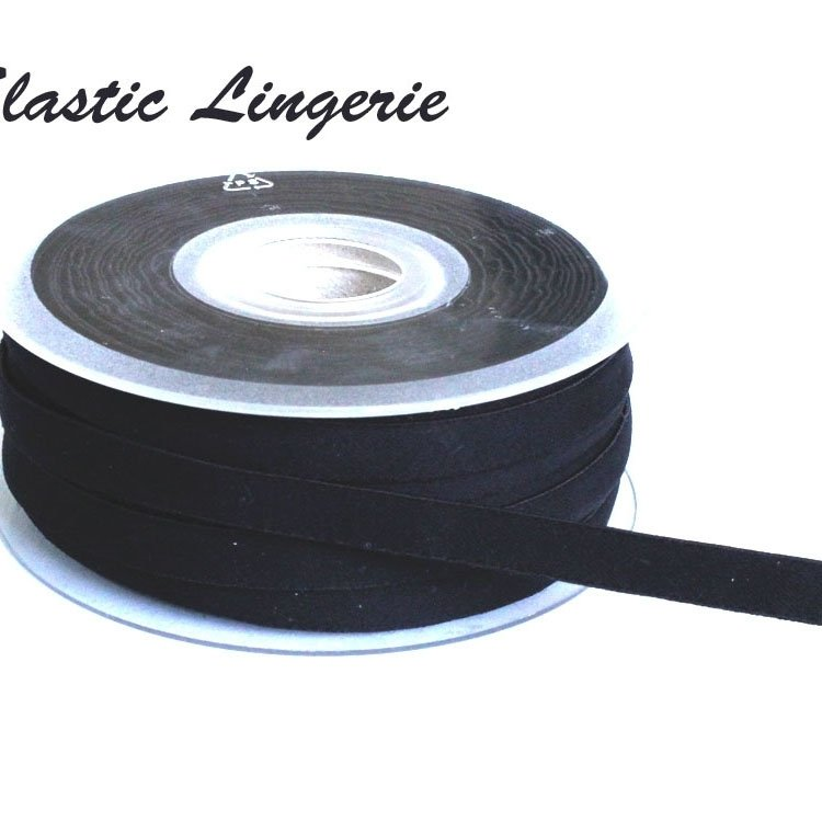 Elastic Lingerie Ribbon, 10 mm, black
