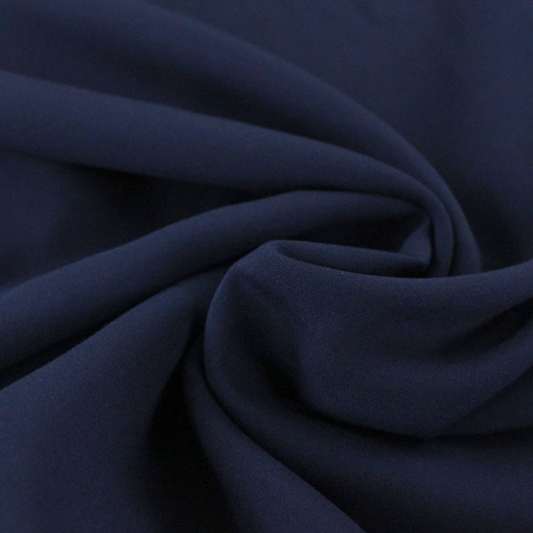 Viscose voile plain, navy blue
