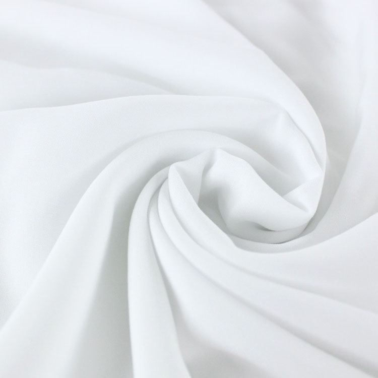 Viscose voile plain, white